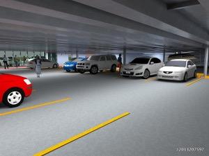 Column free parking
